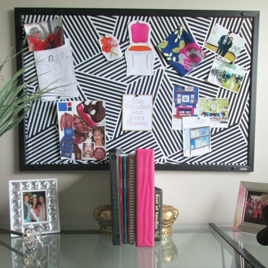 17 best images about inspiration board wall on pinterest for Diy fabric bulletin board ideas