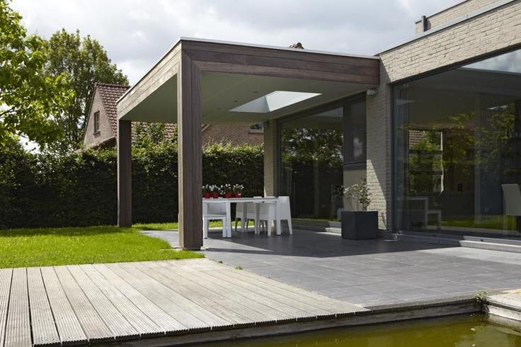 Bogarden voorbeeld overkapping terras met lichtkoepel tuin idee n pinterest met outdoor - Terras met houten pergolas ...