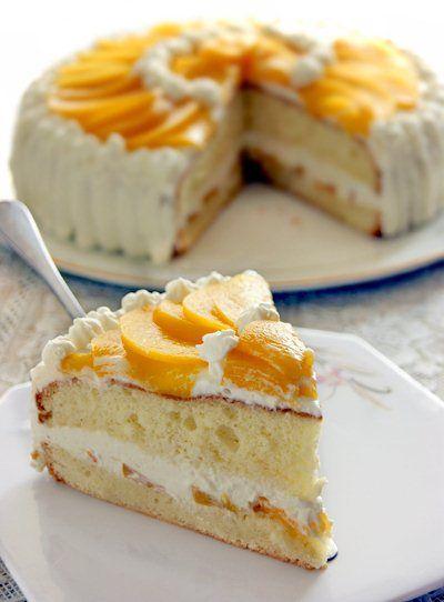 Кулинарная книга Алии: 69. Торт персиковый со взбитыми сливками