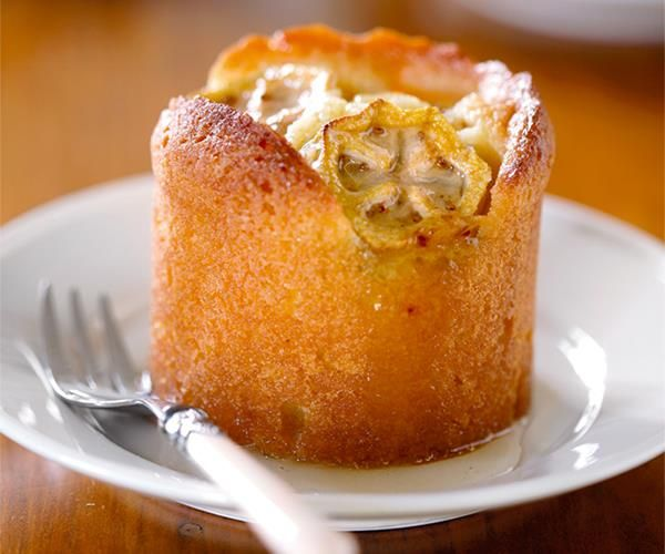Feijoa and lemon syrup cakes recipe | Food To Love