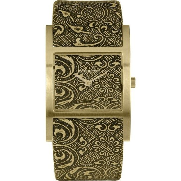 Jacques Lemans Venice Green and Olive Baroque Ladies Watch (280 BAM) ❤ liked on Polyvore featuring jewelry, watches, jacques lemans watches, dress watch, green watches, jacques lemans and olive green jewelry