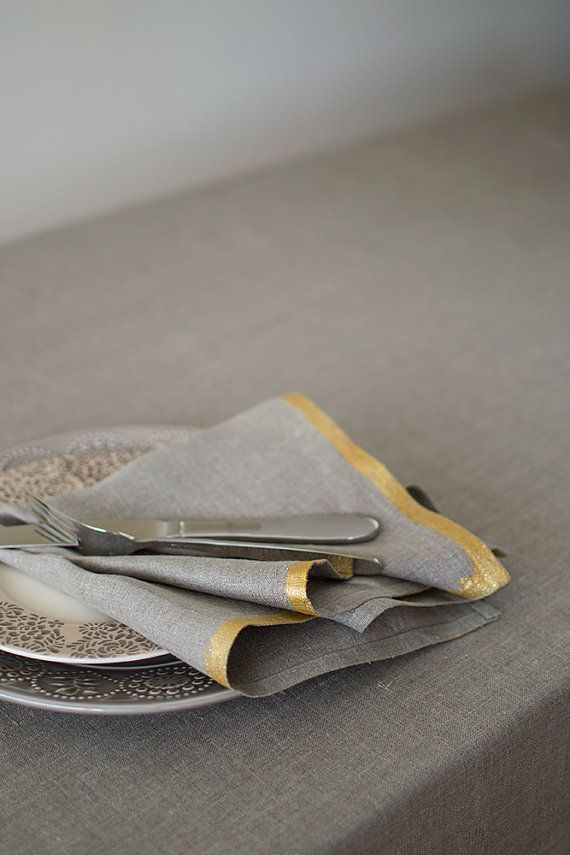 Linen cloth napkins made from natural linen classical napkins cloth undyed linen nicely can decorate the special occasion table or other event table,…