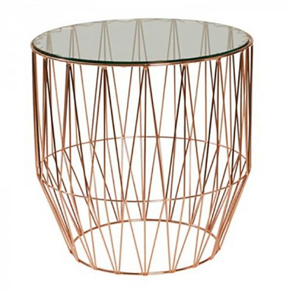 Tribeca Side Table Glass Top   OZ Design Furniture & Homewares