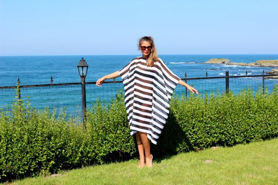 Black and white stripes MAXI chiffon cover by cherryblossomsdress, $79.00