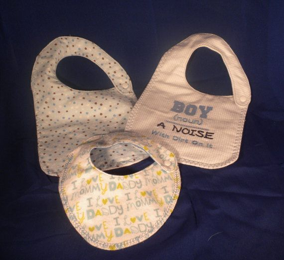 Hey, I found this really awesome Etsy listing at https://www.etsy.com/listing/466218012/boys-waterproof-bib-collection-gift-set