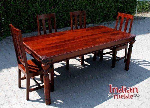 Serce salonu – stół drewniany @ http://indianmeble.wordpress.com/2016/08/02/serce-salonu-stol-drewniany/