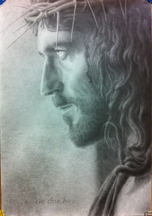 I find Jesus to be the most beautiful being to ever walk on this earth I don't have to see hos face to know his beauty.