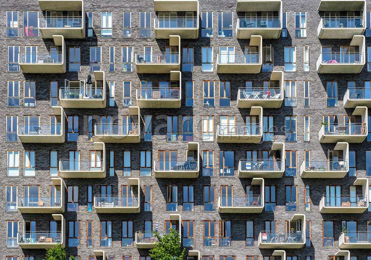 Modern apartment house, Amager, Copenhagen, Denmark