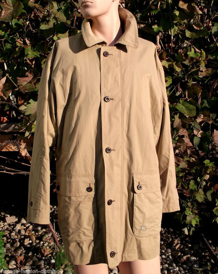 BURBERRYS mens Jacket Woollined Coat Beige Sz 50 L / XL Burberry PRORSUM Mac