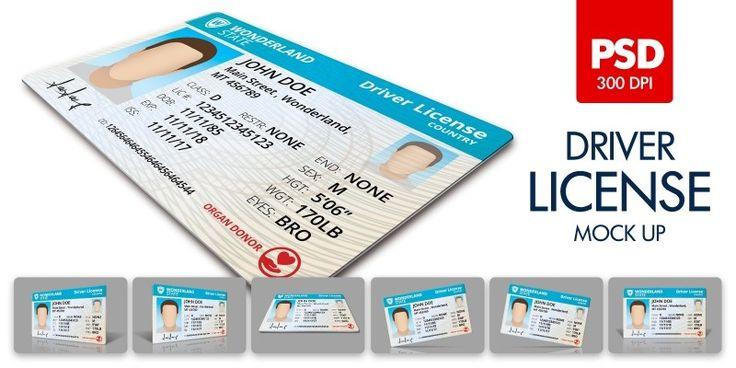 Driver License Mock Up