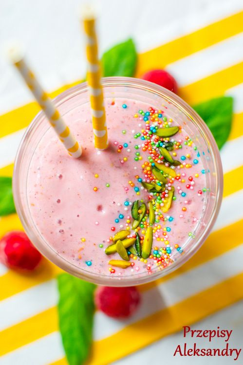 Zdrowy koktajl malinowy/raspberries smoothie