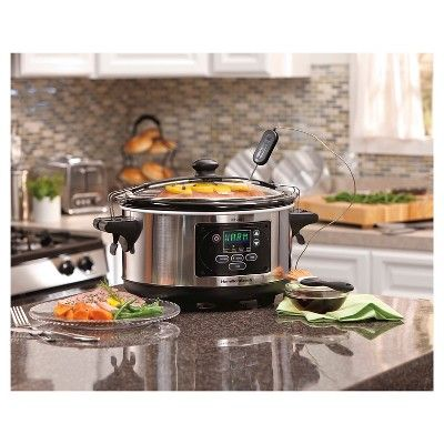 Hamilton Beach Set 'N Forget 6 Qt. Programmable Slow Cooker- 33969, Stainless