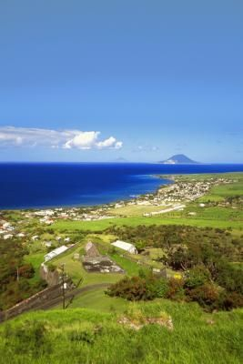 Nevis hovers just off the southeastern edge of St. Kitts.