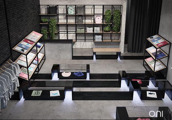 Horizontal showroom on Behance