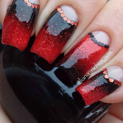 89 best nail ideas images on pinterest black and red gel nail ideas cute simple nail designs prinsesfo Images