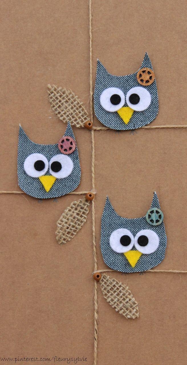 La bande des Hiboux-sans-poux! #jeans #recycle http://pinterest.com/fleurysylvie/mes-creas-la-collec/ et www.toutpetitrien.ch