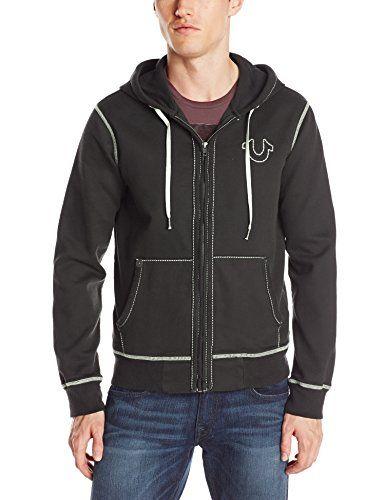 True Religion Men's Long Sleeve Contrast Stitch Hoodie