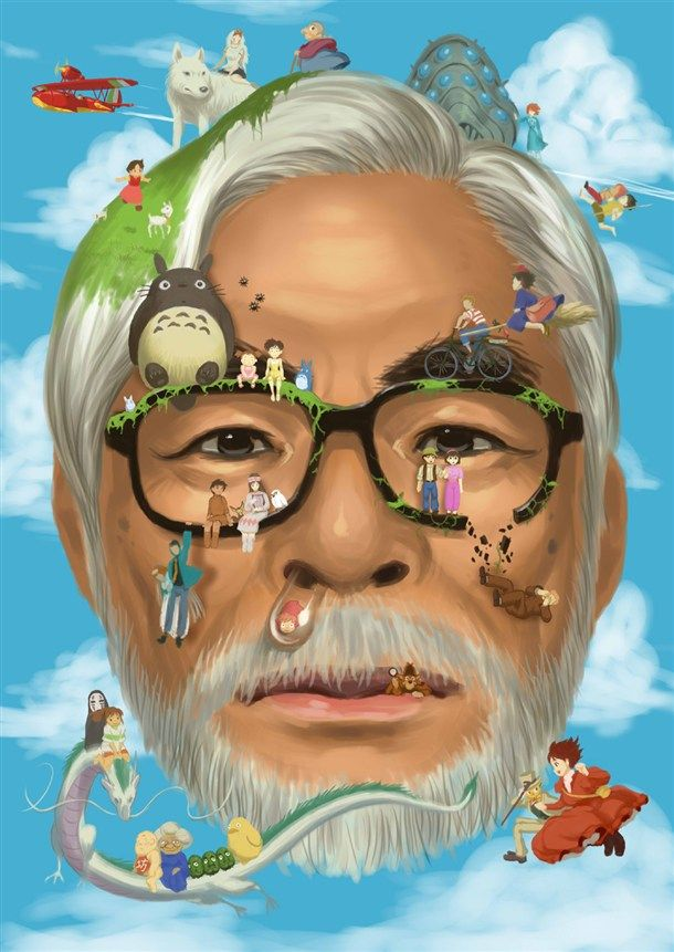 Ode to Hayao Miyazaki, director of such classic films like Spirited Away, Howl's Moving Castle, Kiki's Delivery Service, My Neighbor Totoro, and Castle in the Sky.