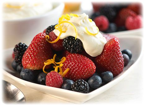This quick and easy breakfast is not just delicious, but healthy! Mix BelGioioso Mascarpone cheese and pure maple syrup with fruit to start your day off fresh.
