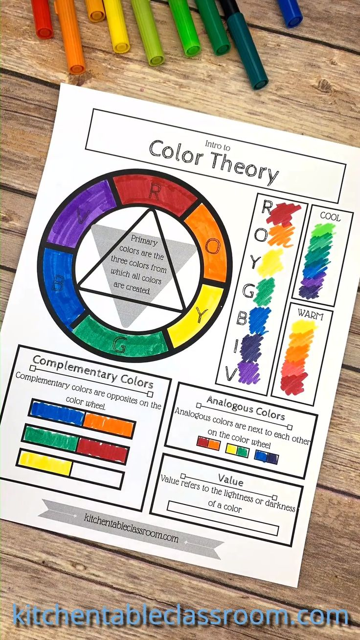 Free Printable Color Wheel
