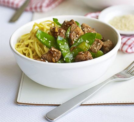 This healthy noodle dish is deliciously low-fat with a great mix of Asian flavours- the perfect midweek supper