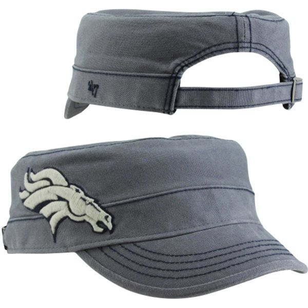 '47 Brand Denver Broncos Womens Honey Creek Military Adjustable Hat - Navy Blue