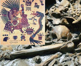 Los huesos sagrados, leyenda azteca, un rincón virtual de lectura recreativa