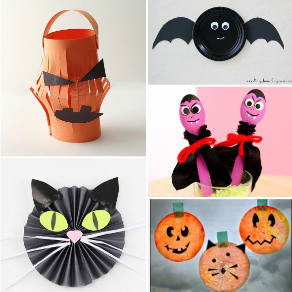 15 halloween crafts for kids adorable spooky projects for children - Halloween Decorations Crafts