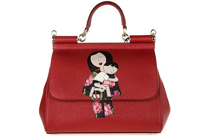 ca65bf70c59 Dolce&Gabbana women's leather handbag shopping bag purse sicily dauphine  patch r designer handbags spring handbags handbag