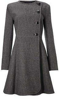 Kate Middleton-style - perfect. Go with grey to create a vintage classic quintessential english rose look.