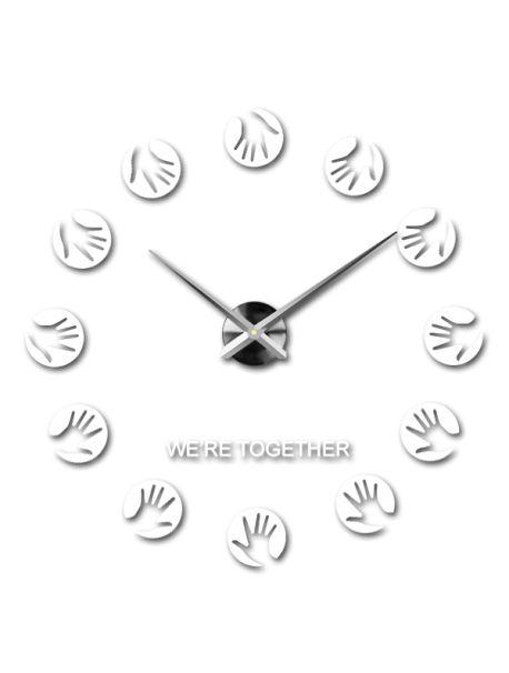 Ceasuri de perete moderne - palmele mamei Referinta  12S016-RAL9010-S-COLOR** Alege o culoare de unul singur! Timpul a venit mult mai confortabil REALIT ceas nou. 3D Ceas de perete mare este un decor frumos al interiorului. Nu vei fi niciodată târziu.