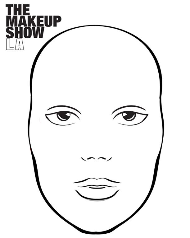 22 best Face charts images on Pinterest Make up, Sketches and - blank t chart