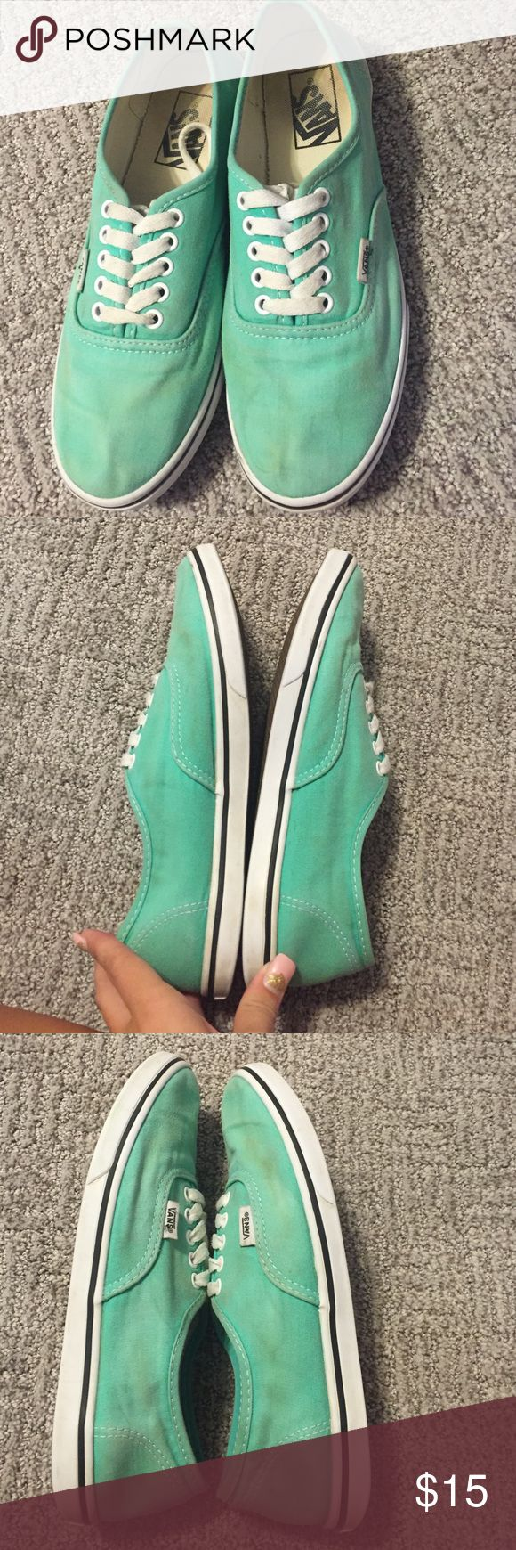 Mint green vans These are a pair of beautiful mint green vans. They are in good used condition. Looking for a new home! Make offers :) Vans Shoes