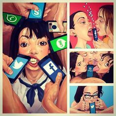 Our society today (artist: Luis Quiles)
