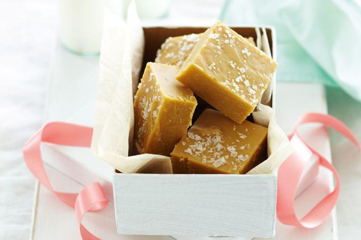 Salted caramel fudge http://www.taste.com.au/recipes/26110/salted+caramel+fudge