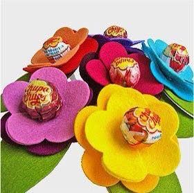 Lembrancinhas flor de Pirulito