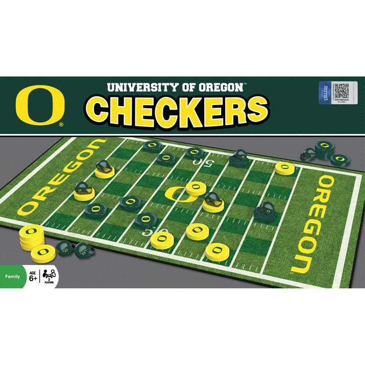 Oregon Ducks Gridiron Checkers Board Game Checkers board