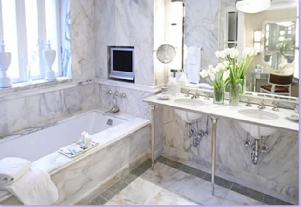 The Classic White Marble Bathroom