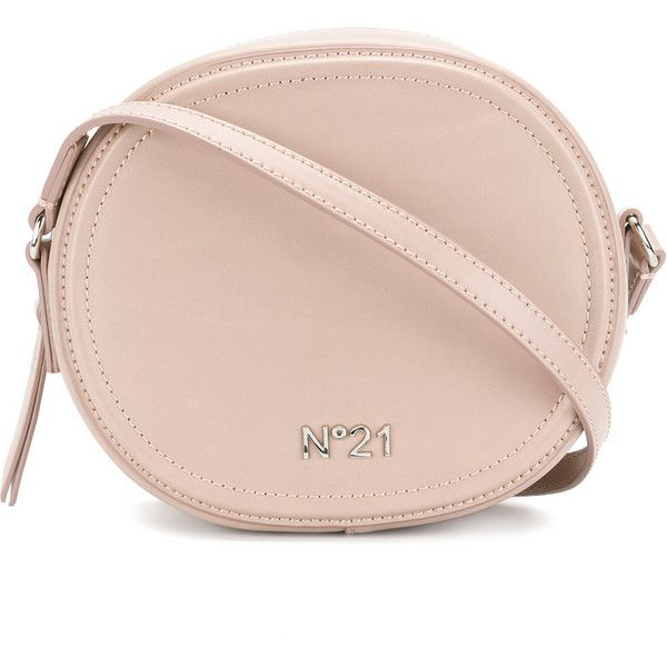 N°21 Leather Shoudler Bag (665 CAD) ❤ liked on Polyvore featuring bags, handbags, shoulder bags, beige, real leather handbags, beige shoulder bag, pink purse, beige leather handbags and beige leather purse