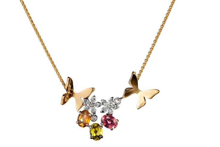 Oy Tillander Ab #Unique #butterfly #necklace #diamond #gold http://www.tillander.fi/