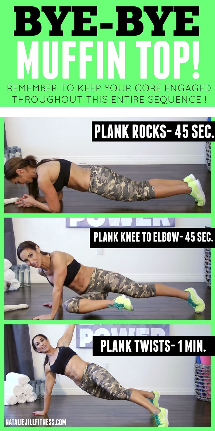 Tired of the muffin top? I hear you sister! Try this sequence of workouts with me! Don't give up and don't be afraid to REPEAT! Click the image for more fun bodyweight workouts!