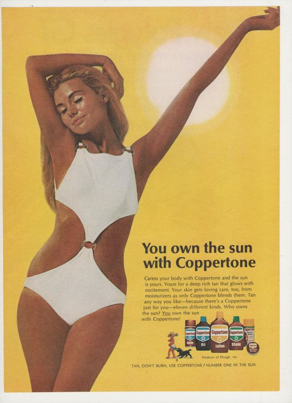 1970 Coppertone Suntan Products Advertisement by fromjanet on Etsy, $5.00