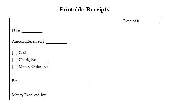 Blank Receipt Templates 9 Free Printable Word Excel Pdf Formats Receipt Template Free Receipt Template Financial Printables