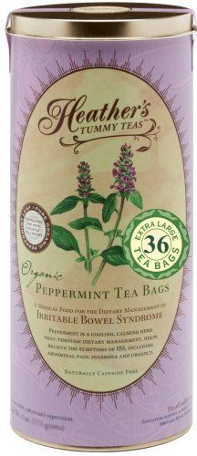 Heather's Tummy Tea Peppermint Tea Bags for Irritable Bowel Syndrome ~ Heather's Tummy Teas Organic Peppermint Teabags (36 Jumbo Teabags) by Heather's Tummy Care. $11.65. Tummy Tea Organic Peppermint Teabags by Heather's Tummy Care 36 Bag Heather s Tummy Tea Peppermint For IBS pain spasms cramps. Calms and relaxes the gut. Rapid relief Loose tea or unbleached jumbo tea bags Ingredients organic peppermint leaf High volatile oil content Very large leaf Certified organic by QA...