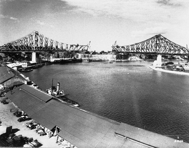 Antique photo of Story Bridge. #StoryBridge