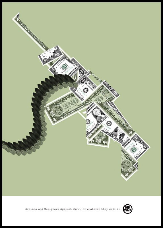 Giulio Bonasera - IH8WAR Poster http://giuliobonasera.com #conceptual #poster #illustration #peace