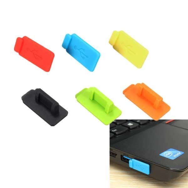 Rubber Silicon Protective Dustproof USB Plug Cover Stopper for PC TV Box Computer Laptop  Features: Protects USB ports from dirt, dust and other contaminants Soft silicon material provides snug fit Easy removal Color: red, green, yellow, blue, orange, black Package Included: 1 x Silicon...