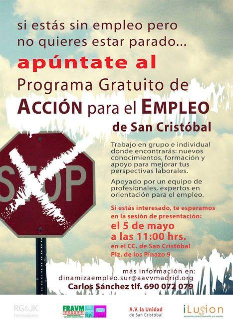 Gente de Villaverde: Programa Gratuito para el empleo en San Cristobal