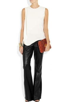 KAUFMANFRANCO flared leather pants  Love leather
