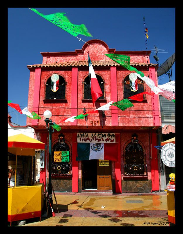 A colorful little house in the town of Tijuana. Viva Mexico by PLD_image